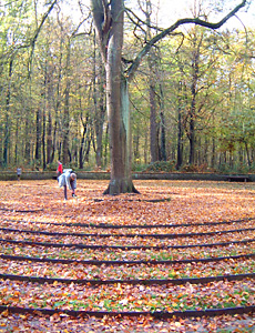 Begehbares Labyrinth